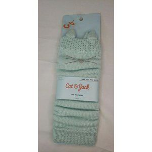 CAT & JACK teal blue cat leg warmers - one size
